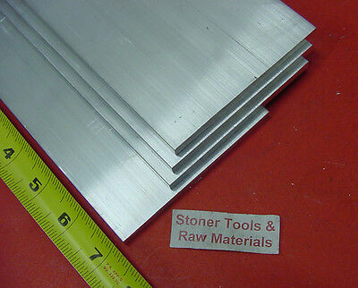 "4 pieces 1/4"" X 6"" ALUMINUM 6061 FLAT BAR 7"" long T6511 .25"" Plate Mill Stock"