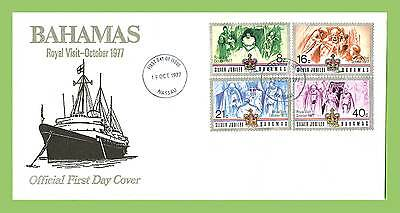 Bahamas 1977 Silver Jubilee (Ship) First Day Cover