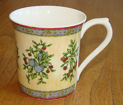 Queen's Tea or Coffee Mug decorated with a fruit tapestry