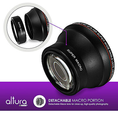 58MM 0.43X Wide Angle Attachment Lens with Macro Portion by Altura Photo®