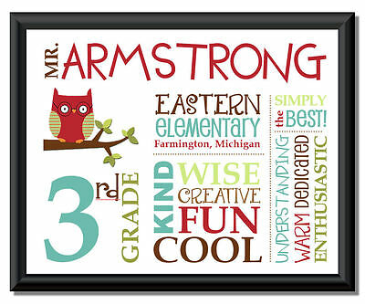 Personalized ART => Custom Print / Picture ~ Special Teacher Appreciation Gift