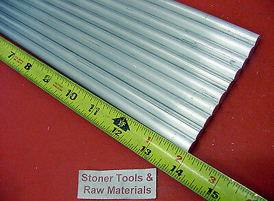 "10 pieces 5/8"" ALUMINUM 6061 ROUND ROD 14"" LONG T6511 .625 Solid Lathe Bar Stock"