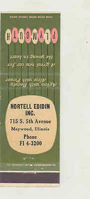 1955 Nortell Edidin Plymouth Automobile Matchbook Cover Maywood IL mb1894