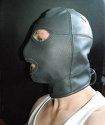 PARUS [MUC] Ledermaske Maske dickes Leder Mask Leather gay PERFORIERT/ PREMIUM