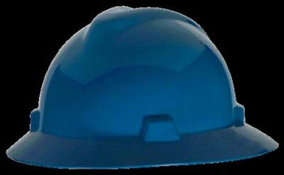 MSA Blue Full Brim Class E Hard Hat with Fas-Trac Suspension