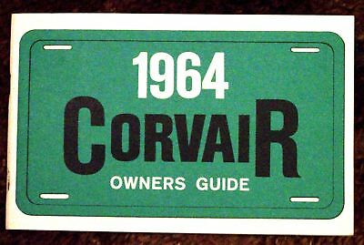 1964 Chevrolet Corvair Owners Guide 64