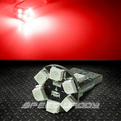 10 Smd 10Smd T13 W5W 194 168 Round Led Red Interior Dome/map Panel Light Bulbs