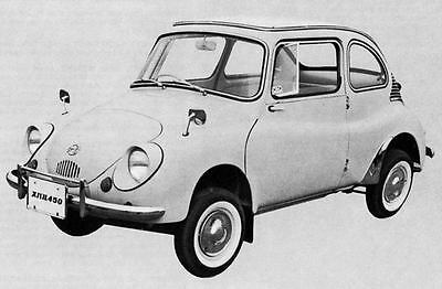 1966 Subaru 450 De Luxe Sedan Factory Photo Microcar J4989