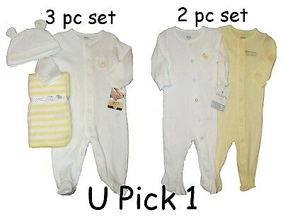 CARTERS SLEEPERS BLANKET CAP SET NEUTRAL BABY BOYS GIRLS UNISEX CHILDREN CLOTHES