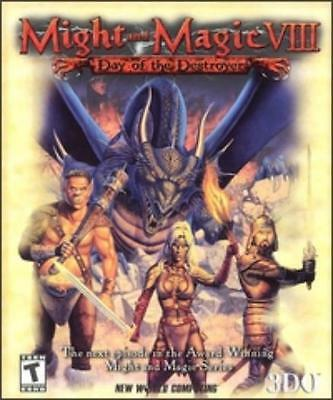 Might and Magic VIII 8 Day of the Destroyer PC CD battle knight dragon elf game!
