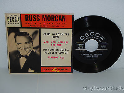 "RUSS MORGAN Music In The Morgan Manner Vol. 1 7"" 45 EP Decca ED 2009 VG+ PS"