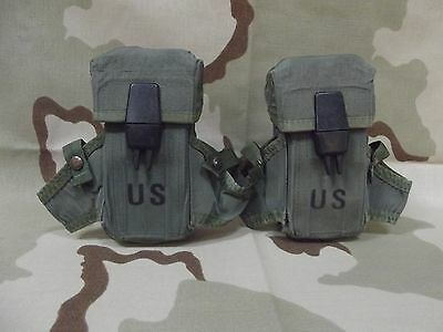 Lot of 2 USGI Small Arms Ammunition Magazine Pouch Army Olive Drab Good Cond.