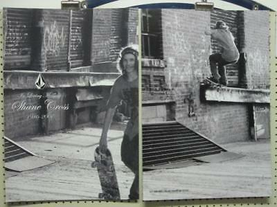 VOLCOM surf skateboard 2007 SHANE CROSS B&W 2 SIDED POSTER ~MINT CONDITION~!