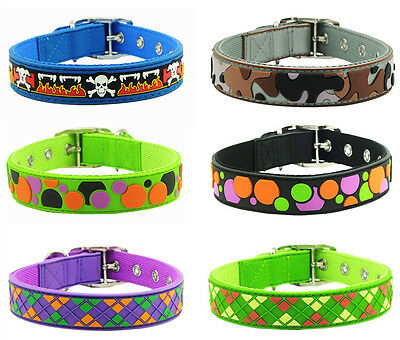 "Pet Dog Puppy Cat Rubber Leather Waterproof Collar Fit Neck from 10.5""-14""Medium"