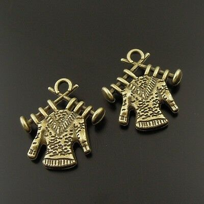 50X Antiqued Bronze Tone Knit Sweater Pendant Findings Charms 18*17*2mm