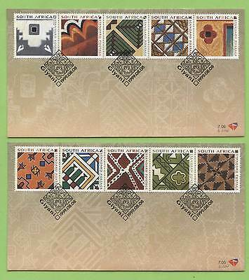 South Africa 1999 Traditional Wall Art set on two First Day Cover
