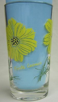 Fiesta Cosmos Peanut Butter Glass Glasses Drinking Kitchen Mauzy 58-5