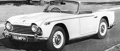 1967 Triumph TR4A Factory Photo J5899