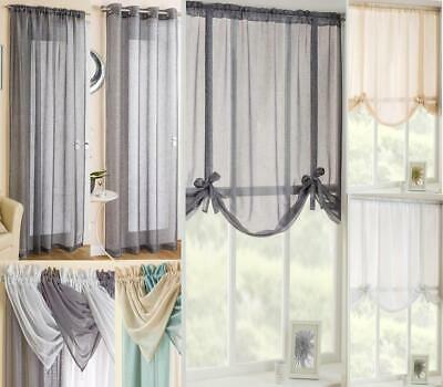 GLITZ / GLITTER / SPARKLY VOILE CURTAIN PANELS / TIE BLINDS / SWAGS  MIX'n'MATCH