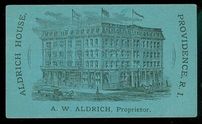 Aldrich House, Providence R.I. Business Cd w Exterior View