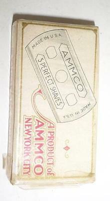 box of 4 1929 Ammco New York City double edge safety Razor Blade vintage gas