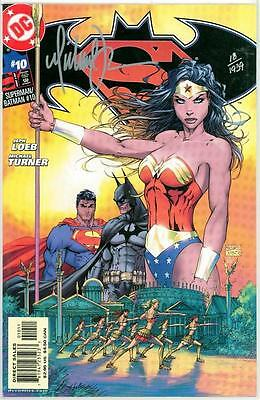 Superman Batman #10 Df Dynamic Forces Signed Michael Turner Coa Nm (Movie)