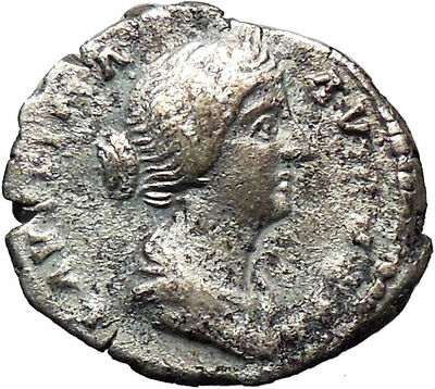 Faustina II wife of Marcus Aurelius Silver Ancient Roman Coin Spes HOPE i30394