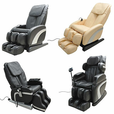 Luxury Reclining Leather Massage Chair Automatic Relax Multifunctional Full Body