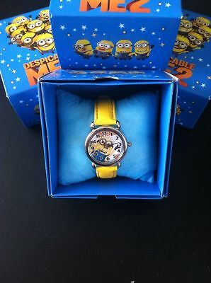 Despicable Me 2 Yellow Kids Wrist Watch Boxed Boys Uk Seller New