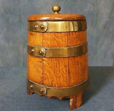 Nice 19th. to Early 20th. Century Brass mounted Oak Barrel.