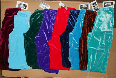 NWT Dance Costume boys Mens Velvet Spandex Ballet pants Danseur tights Stovepipe