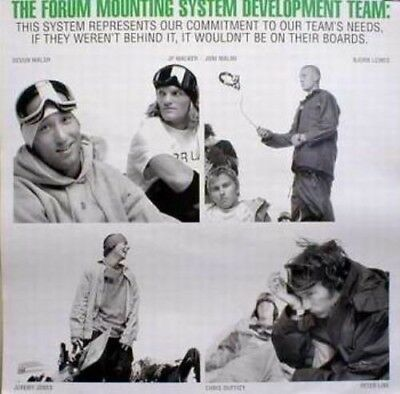 FORUM snowboard OLD TEAM mounting promo poster *MINT condition*NEW old stock*!!