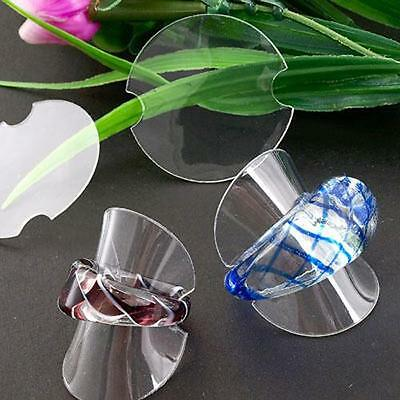 25 X Jewelry Rings Plastic Stand Display Showcase 38mm HOT