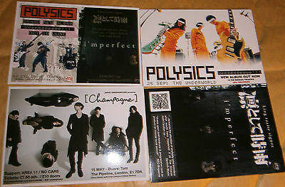 2 X Music Postcards - Polysics - Gig Date And Album Release