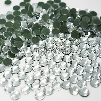 Hotfix Rhinestones Crystal Glass Iron On Gem Diamante Diamond Bling Craft Art