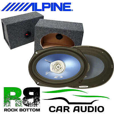 VIBE BLACKAIR 69 1050 Watts 3-Way Car Rear Shelf Speakers & 6 x 9 Box Enclosures