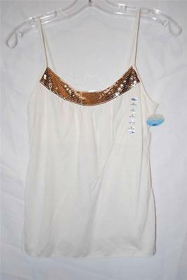 New Women's Old Navy Ivory w/ Sequins Camisole sz S NWT