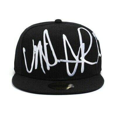 Underground Kulture Troublesome Black & White Flat Peak Fitted Baseball Cap