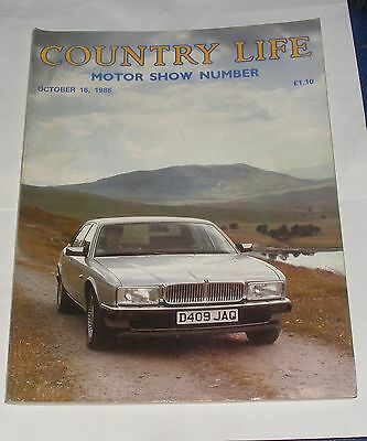 Country Life October 16Th 1986 - Motor Show Number