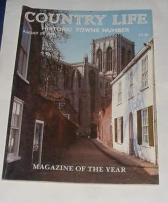 Country Life August 21St 1986 - Historic Towns Number