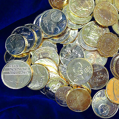AMAZING LOT (10) GOLD CLAD WORLD COINS FOREIGN COIN RESELLERS COLLECTORS MAKE $$