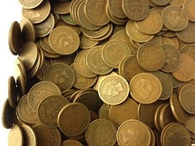 Special Lot! 50 Indian Head Pennies cents Unsearched from bag of full date coins