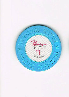 Reno, Nevada NV - Flamingo Hilton $1 Casino Chip - One Dollar