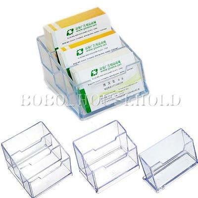 1/5pcs 1/2/3 Tier Clear Plastic Business Card Holder Display Stands Shelf Case