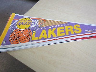 Car Flag Wimpel Fahne Basketball NBA L.A. Lakers 90er