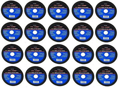 """20 Pc 4 1/2"""" Cut Off Wheel For Metal Cutting Disc Grinders 1/16"""" Thickness"""