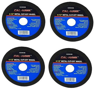 """4 Pc 4 1/2"""" Cut Off Wheel For Metal Cutting Disc Grinders 1/16"""" Thickness"""