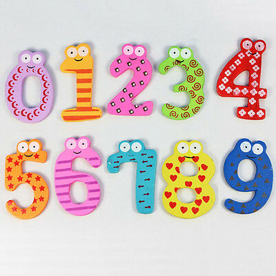 Magnetic Wooden Numbers Math Set for Kids Children Preschool School Daycare NEW