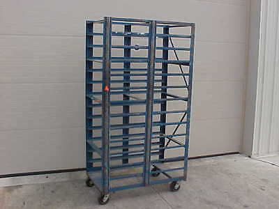 Commercial Bakery DOUBLE Rolling Rack Tall Bread Trays Pan Sheet