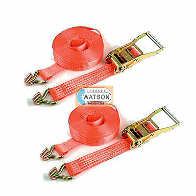 Heavy Duty RATCHET STRAPS Trailer Truck Tie Down Cargo Lashing to BS EN12195-2